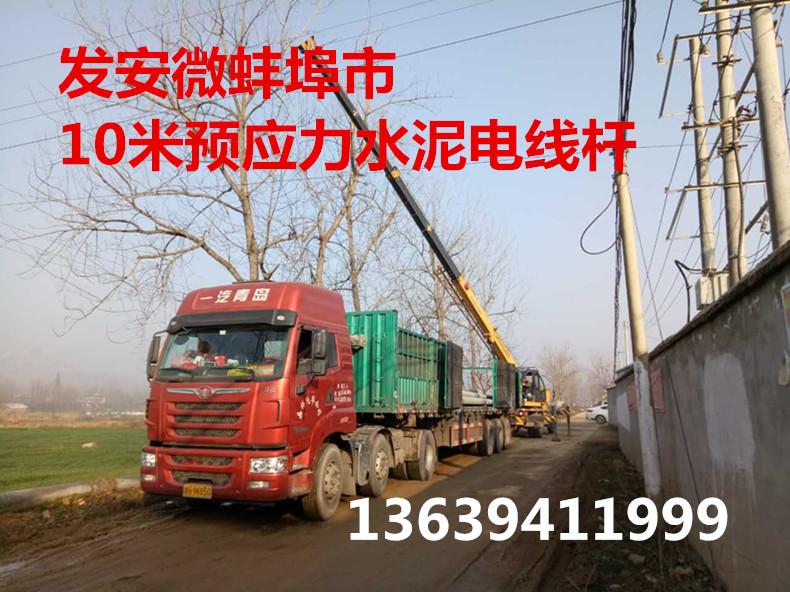 发安微蚌埠市10米预应力水泥电线杆