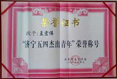 正大电线杆荣誉证书